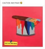 CAUTION: Wet+Paint